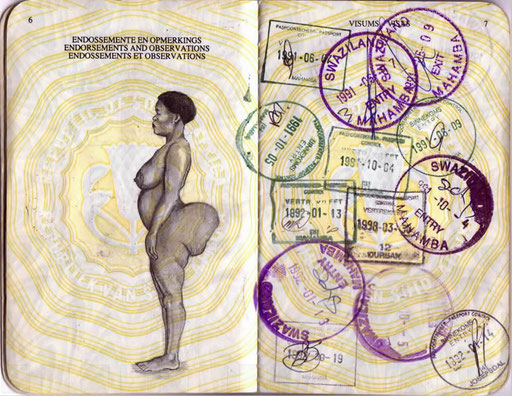 Hottentot Venus, South African Passport
