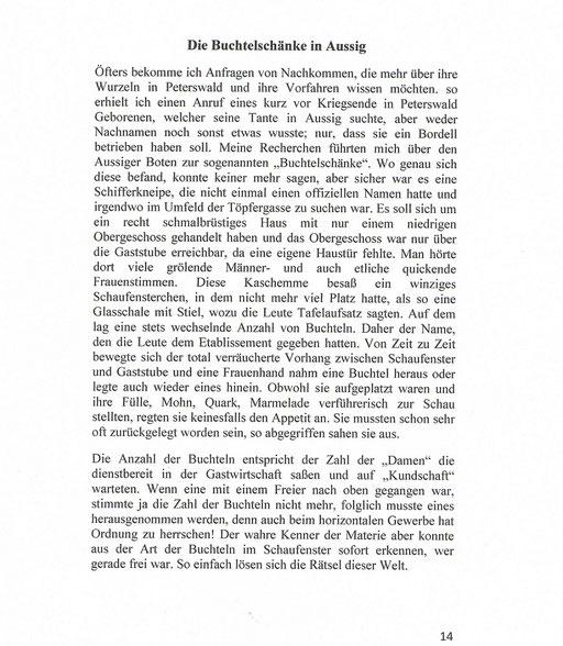 Die Buchtelschenke in Aussig - eine Leseprobe