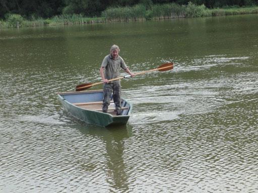 Anglerboot im Einsatz