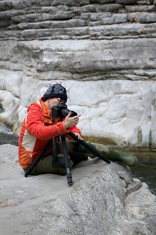 Teilnehmer beim Fotografieren © c.rebl