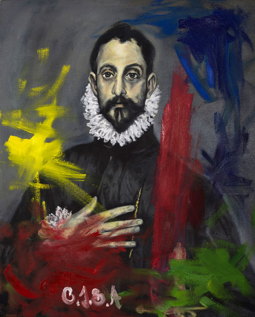 Reunderstanding el Greco -oil in canvas. 15F. 2017