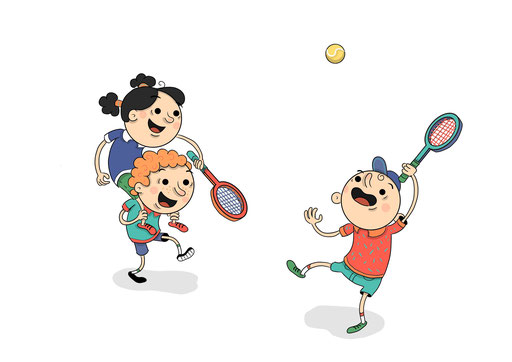 Tennis Kids Illustration (2017)