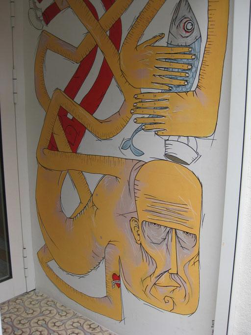 Wandmalerei (Anna Bistro, Hamburg Altona)