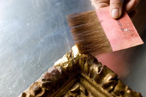 restauration d'un cadre Louis XIII