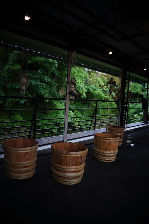 天野酒蔵の倉庫での立体&インスタレーション
