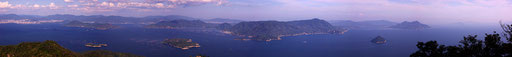 宮島弥山山頂からの眺望 【撮影:2010.9.19】