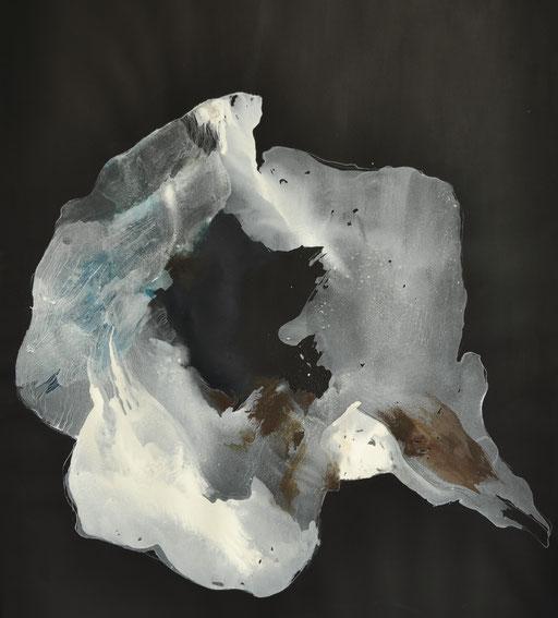 Remote Sensing 3. Antarctica, gouache op papier, 78 x 111cm, in  privécollectie