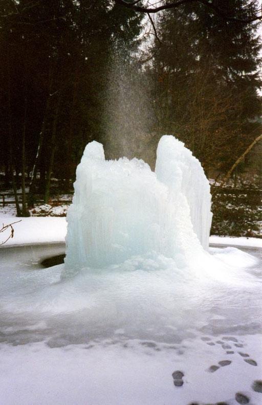 Bizarre Eisskulpturen bilden sich im Winter