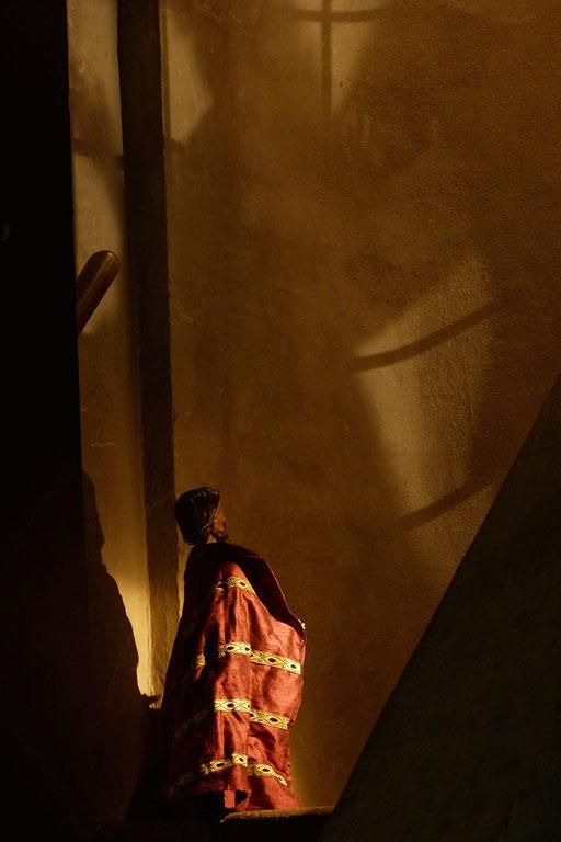 Der Engel erscheint Josef im Traum und erklärt ihm die Menschwerdung (zum Vergrößern, anklicken)