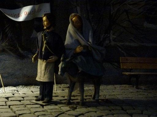 Maria und Josef auf Herbergsuche ...