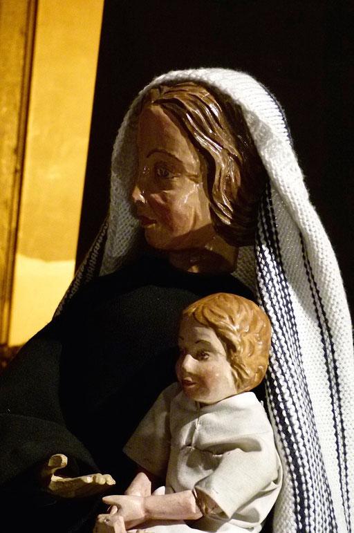 Elisabeth besucht mit ihrem Kind Johannes Maria und den Jesusknaben