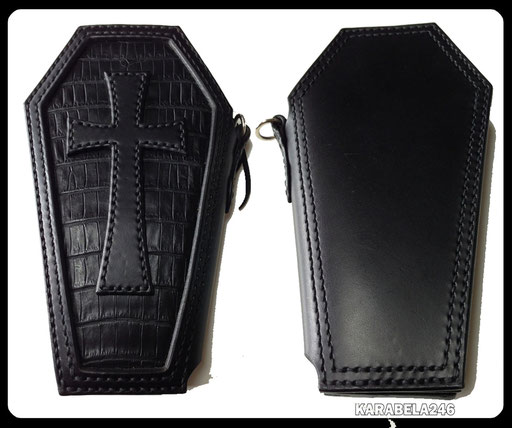 COFFIN WALLET/CROCODILE