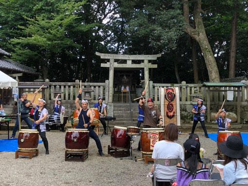 寧鼓座 奈良 和太鼓 八朔祭り