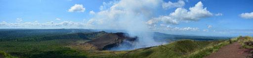 Nationalpark Vulkan Masaya - der aktive Krater mit seinen Schwefelschwaden