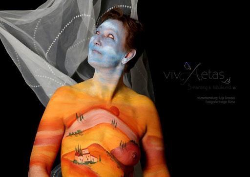 vivAetas Körperbemalung Anja Drosdek; Fotografie Holger Rinne