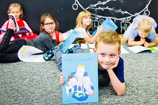 Polnische Schulklasse, mit der das Buch Lily, Ben und Omid besprochen wurde