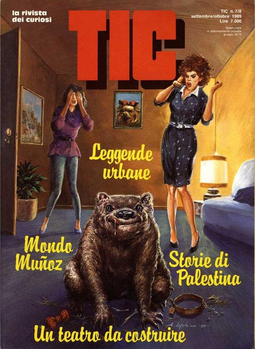DOV'E' FUFI? di A.Molino. Tempera su cartone. Da TIC, 1989