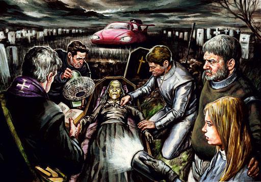 RESURREZIONE, di A.Molino. Tempera su cartone. Da FOCUS, 2010