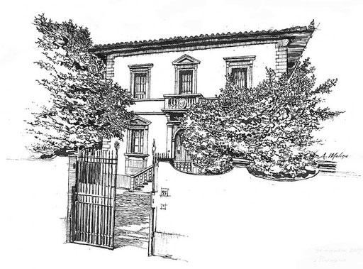 VILLA FIORENTINA, di A.Molino. Ink on paper, 2009.