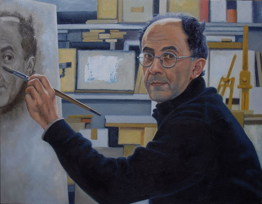 SELF-PORTRAIT, by A.Molino. Oil on canvas, 2015