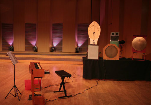 Ondea + Martenot loudspeakers (Palme, Reverberation and two Metallics)