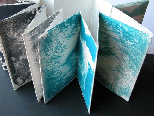Acordeón agua, litografias s/paper japonés