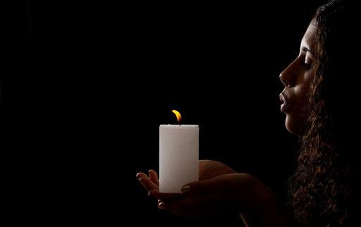Kerzenlicht (Foto: Helmut Meier)