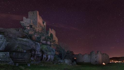 Sternenhimmel über der Burg Flossenbürg (Foto: Andreas Bühner)