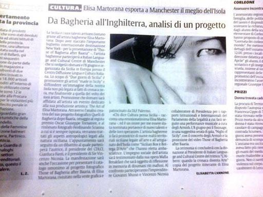 pubblicato da Elisabetta Cannone su LA SICILIA