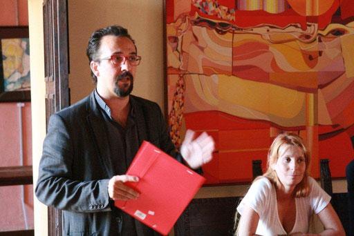Virgilio Patarini e Valentina Carrera a Palazzo della Racchetta, Ferrara