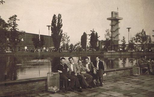 Werner Glumm, Rudolf Bönning, Horst Steller, Heinz Bergunde und Erich Hoffmann