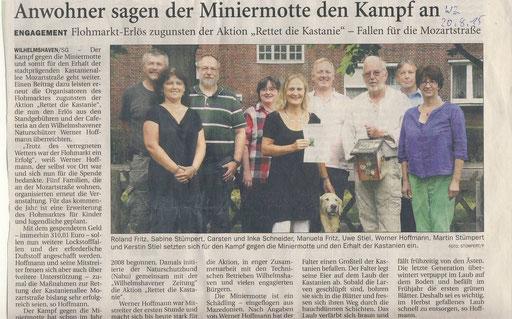 Wilhelmshavener Zeitung v. 20.8.2015