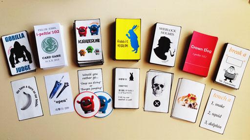 名古屋の英会話で使うカード7種です