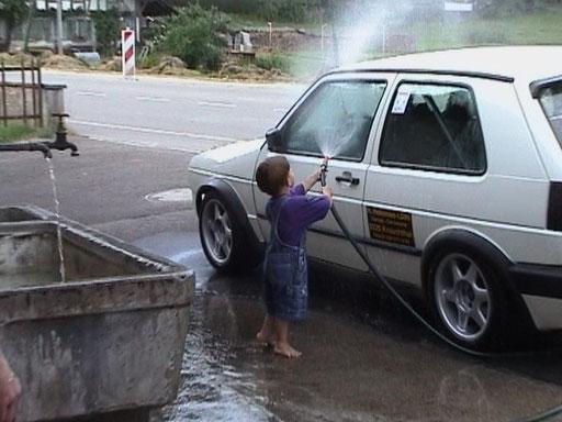 Lukas waschen geht schon