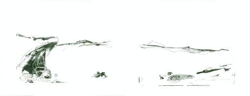 """""""grottans barn""""   50x130 Diptychon 2010 (Auflage: 6)"""