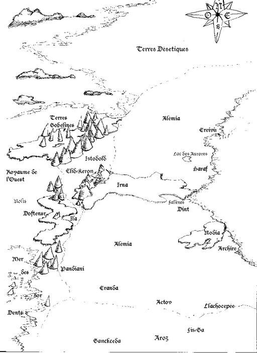 Carte des territoire environnant Alémia