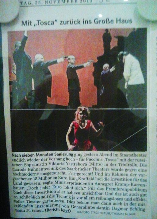 Kurzmeldung in der Saarbrücker Zeitung vom 25.11.2013.