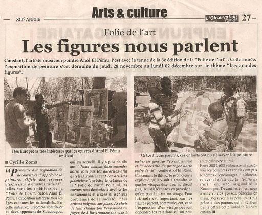 """JOURNAL """" OBSERVATEUR  2011"""
