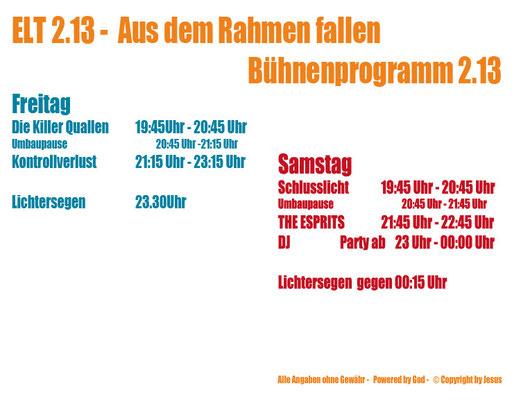 Bühnenprogramm ELT 2013