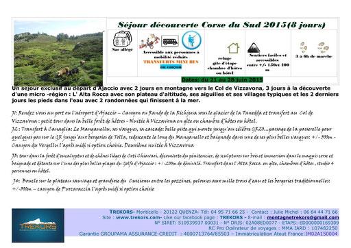 randonnées et canyons en Corse