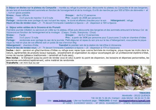 séjour raquettes à neige en Corse