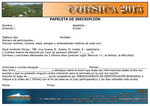 registar par un excursion o un estancia de andinismo en corsega/corsica