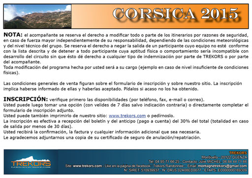 andar en corsega con un guia de muntana local: andinismo/corsinismo
