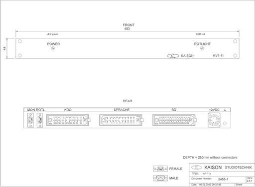 Rackunit for Desktop Station KV1-11