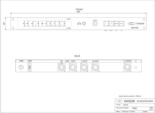 AES EBU Monitor KAH23
