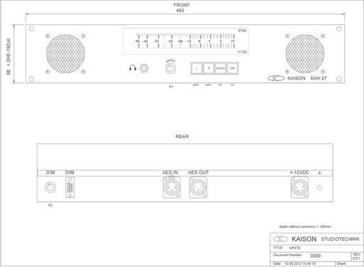 AES EBU Monitor KAH27