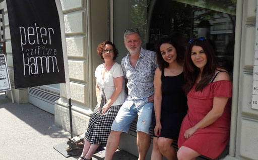 Viviane Christinger ( Coiffure Wolf ), Peter Kamm, Iva Al Ramahi, Angi Arena