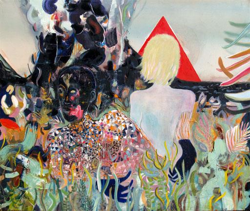 serpentine, 2015, Acryl und Öl auf Leinwand, 145 x 170 cm