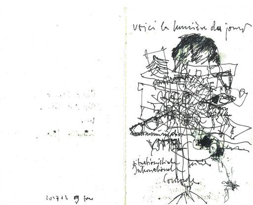 Lenbachhaus Muc / Skizze zu Guy Debord 20170219fra