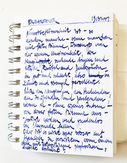 Erwartung Manuskript 20010319fra